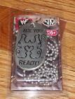 Triple H Are You Ready! WWF WWE Wrestling Champion Dog Tags New in Package