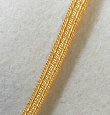 Gold Naval Lace Cello 8mm Navy Uniform Army Military Braid