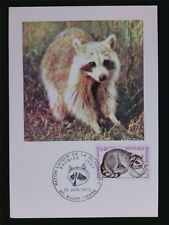 FRANCE MK 1973 TIERE WASCHBÄR COON MAXIMUMKARTE CARTE MAXIMUM CARD MC CM c7156