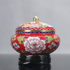 Collection Chinese Cloisonne painted flowers Pots