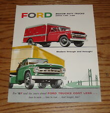 Original 1957 Ford Truck Medium Duty Models Sales Brochure 57 F-500 F-600