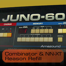 ROLAND JUNO-60 & JUNO-6 REASON REFILL. COMBINATOR, NNXT PATCHES & SAMPLES