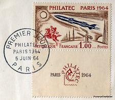 PHILATEC PARIS  1964 TIMBRE FRANCE  Premier Jour  FDC  Yt 1422