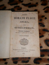 quinti horatii flacci opera - Oeuvres d'Horace - Dübner - Lecoffre, 1850