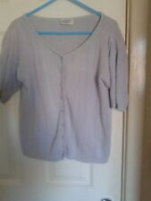 Vintage Para pale lilac short sleeve button down jumper top size M