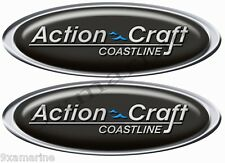 Action Craft Boat Oval Vintage Decals Remastered.