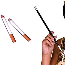 New 2 Fake Cigarettes & 30cm Long Cigarette Holder 1920s Flapper Kit Fancy Dress