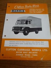 BMC MORRIS CLIFTON BODY WORK DELIVERY VAN  TRUCK LORRY 'BROCHURE' MID 60's