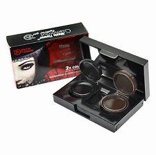 2 Color Black&Brown Eyeliner Gel Cosmetic Makeup Waterproof  Long Lasting