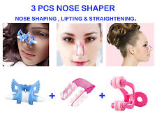 3 Pcs Nose Shaper Lifter Clip Nose Shaping Straightening Lifting Up Beauty tool