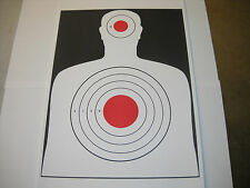 25 (2 Color) Silhouette hand gun and rifle paper shooting targets 12X18