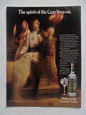 1978 Print Ad Wolfschmidt Russian Vodka ~ Spirit of Czar Borzoi Wolfhound Dog