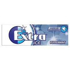 Wrigley's Extra ICE PEPPERMINT Sugar Free Chewing Gum 30 Pack Of 10 Pellets