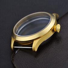 45mm Retro Gold Case Fit Men Watch ETA UNITAS 6497/6498 Movement GC4506