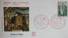 ENVELOPPE PREMIER JOUR - 9 x 16,5 cm - 1970 - FRESQUE DE DISSAY - N° 742