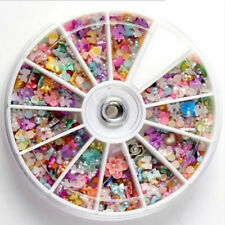 Nail Art Tips Approx 1200pcs Wheel Mixed Glitters Rhinestones
