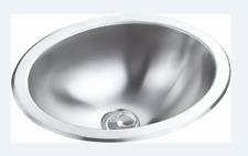 RV Caravan Camper Stainless Steel Elliptical Hand Wash Basin Kitchen Sink GR-585