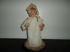 OOAK Primitive Art Doll Poopi Poupee Baby 12 inch Made Ottawa Canada Handpainted