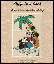 "Counted Cross Stitch MICKEY MOUSE ""Hawaiian Holiday"" - COMPLETE KIT #19vc-10 KIT"