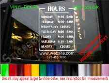 STORE HOURS OPERATION SIGN DECAL Window Door Store Grocery Deli Food Truck Stand
