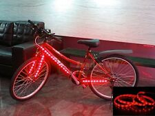 bike bicycle led strip 1M 3ft Red light+battery box to bike car scooter lighting