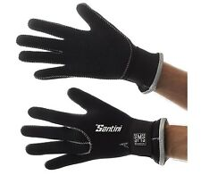 SP593NEO Santini 365 Neoprene Cycling Gloves Extra Large XL Black Heavyweight