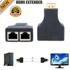 HDMI Over RJ45 CAT5e CAT6 UTP LAN Ethernet Balun Extender Repeater - 1080p 3D HD