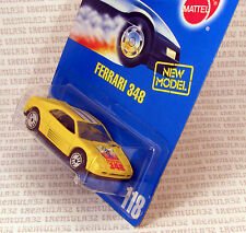 SPEED POINTS FERRARI 348 YELLOW UH ULTRA HOTS WHEELS #118 BLUE CARD HOT WHEELS
