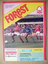 Football League Division One 1991 FOREST v LIVERPOOL, 6 May (Org,Exc*)