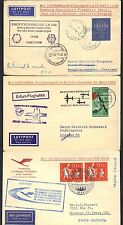 GERMANY 1950's THREE FIRST FLIGHT COVERS TO BANGKOK NEW YORK  DRESDEN