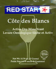 Red Star Cote de Blanc Wine Yeast, 5g - 2-Pack