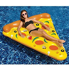 Swimline 90645  6' By 5' Giant Inflatable Pizza Slice Swimming Pool Float Raft