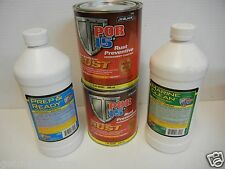 POR-15 Semi Gloss Black Kit 2-Quart Paint 45404 , 1-quart Prep, 1-quart cleaner