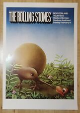 1973 The Rolling Stones - Auckland Lithograph Concert Poster by McCausland 2nd