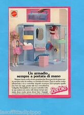 TOP989-PUBBLICITA'/ADVERTISING-1989- MATTEL- LA VALIGETTA/ARMADIETTO DI SKIPPER