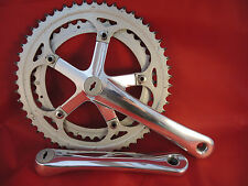 CLASSIC STYLE ALLOY CHAINSET- 42/52T STEEL CHAINRINGS - MIRROR POLISHED CRANKS