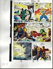1990 Avengers Marvel color guide art page:Captain America/Iron Man/Thor/She-Hulk