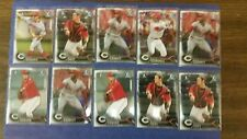 CINCINNATI REDS TEAM 2016 BOWMAN CHROME DRAFT ( 10 CARD TEAM PROSPECT SET ) OKEY