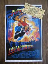 The Last Action Hero -  Movie Poster & Reproduction Magical Ticket - Prop