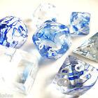 Chessex Dice Poly - Nebula Blue w/ White - Set of 7 - 27466 - Free Bag! DnD