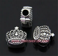 P398 10pc Tibetan Silver Charm crown Spacer Beads accessories wholesale