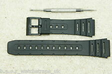 Rubber strap compatible with Casio 20mm FT100 CA61 CA53 W720 W520 W74 + Tool