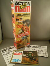 ACTION MAN - 40th 1978 TALKING COMMANDER BOX & PAPERWORK