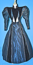 ANTIQUE DRESS c1896 RECEPTION 2-PC LEG OF MUTTON SLEEVES MUSEUM DE-ACCESSIONED