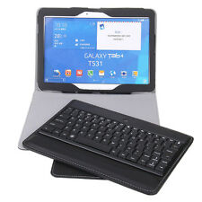 "Bluetooth Keyboard QWERTY Detachable for Samsung Galaxy Tab 4 10.1"" Black"