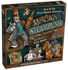 Munchkin Steampunk Deluxe Board Card Game From Steve Jackson Games SJG 1508
