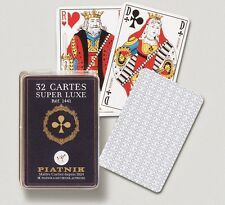 Jeu 32 boite crystal PIATNIK deck 32 playing cards standard poker size Super Lux