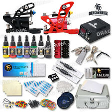 Professional Tattoo Kit 2 Rotary Machine Gun Power Supply with Carrying Case