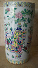 Fine Ch'ien Lung Qianlong Famille Rose Porcelain Umbrella Stand - Qianlong Mark