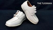 New Infant Baby Shoe Size 4 Ivory Formal Wedding Tuxedo Boys Shoes Ring Bearer